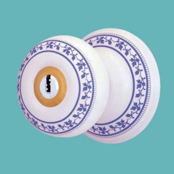 <PRE>Int&amp;Ext Keyed Door Knob Lock Set Porcelain Ajustable Backset </PRE>