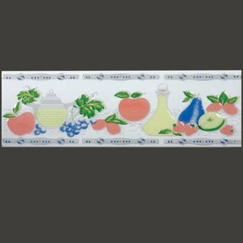 3 x 10 Listello Tile Border Liner Summer Fruit Ceramic Wall Tile Wall Tiles Bathroom Tile