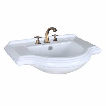 Vintage Console Sink Bathroom 8