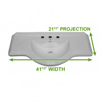 "spec-<PRE>X Large Bathroom Console Sink 8"" Widespread </PRE>"