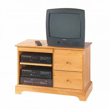 Entertainment Consoles for TV Heirloom Pine Kit 25 Inches134515grid