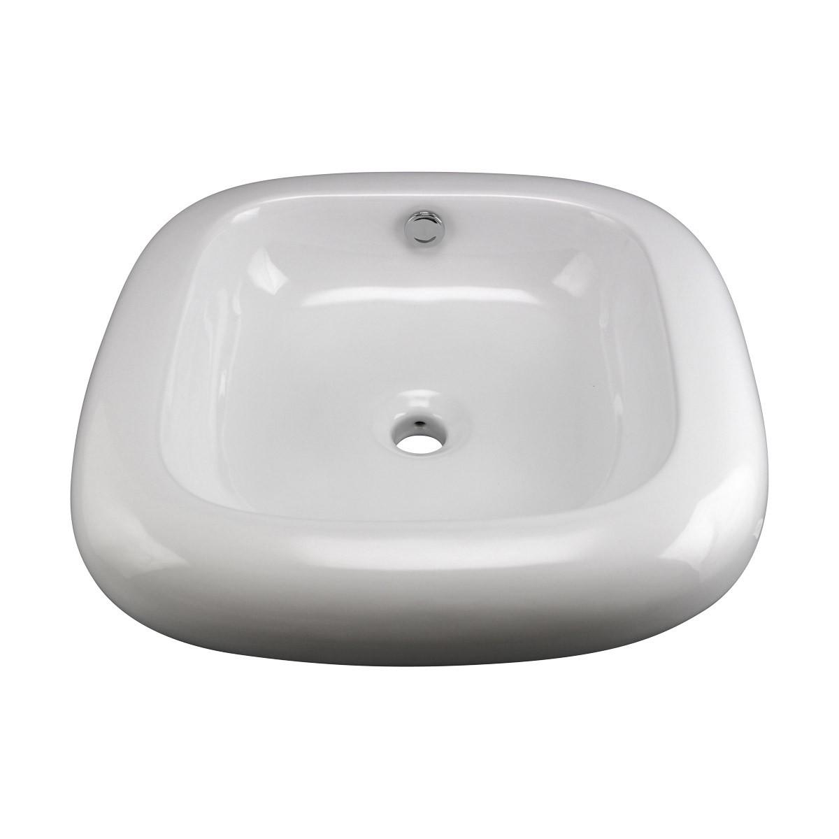 Capri Round White Vessel Sink Grade A Vitreous China bathroom vessel sinks Countertop vessel sink Bathroom Vessel Sink