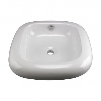 Capri Round White Vessel Sink Grade A Vitreous China bathroom vessel sinks Countertop vessel sink Bathroom Vessel Sink