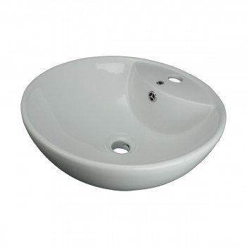 <PRE>Above Counter Vessel Bathroom Sink White China Faucet Hole </PRE>zoom3