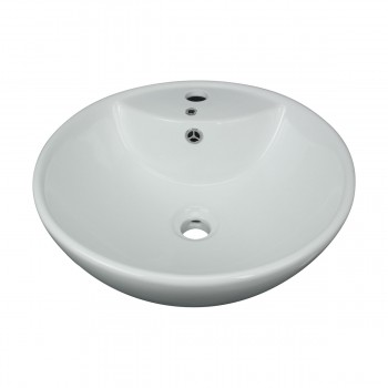 <PRE>Above Counter Vessel Bathroom Sink White China Faucet Hole </PRE>zoom8