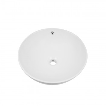 Renovators Supply White Vessel Above Counter Bathroom Sink Round Gloss Finish bathroom vessel sinks Countertop vessel sink Unique Bathroom Vessel Sink