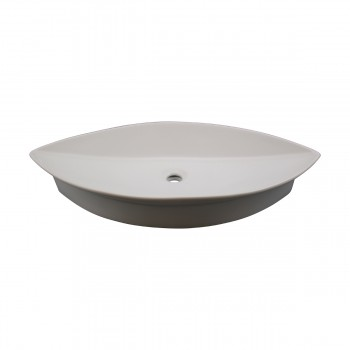 White Oval Above Counter Bathroom Vessel Sink bathroom vessel sinks Countertop vessel sink White Bathroom Sink