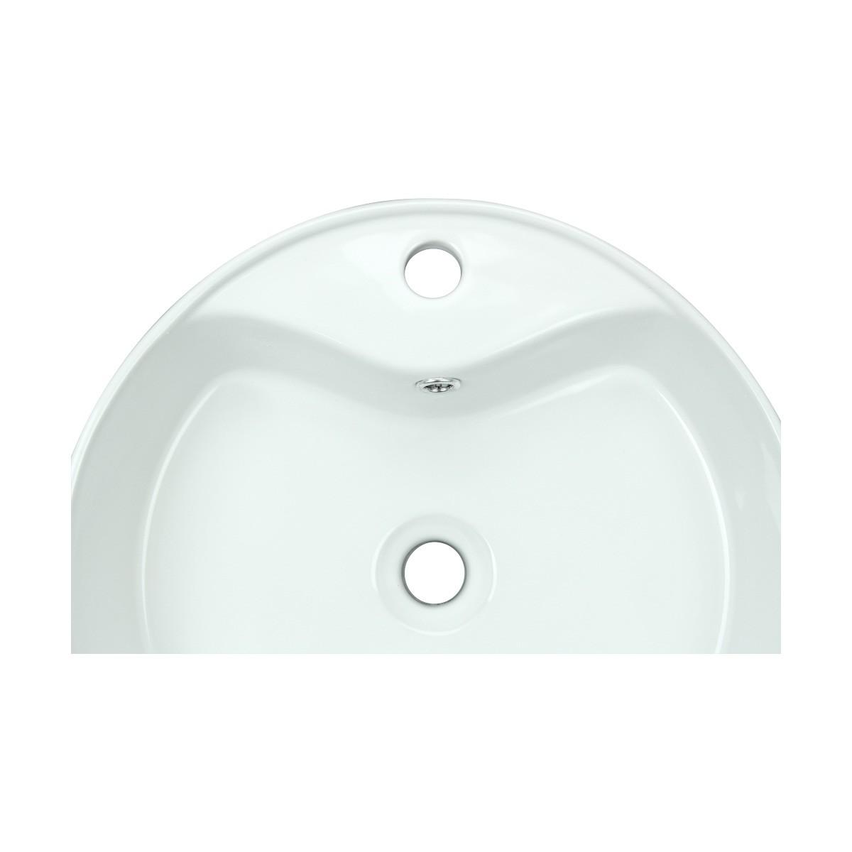 Bathroom Vessel Sink White Porcelain Prescott Faucet Hole bathroom vessel sinks Countertop vessel sink Bathroom Vessel Sink