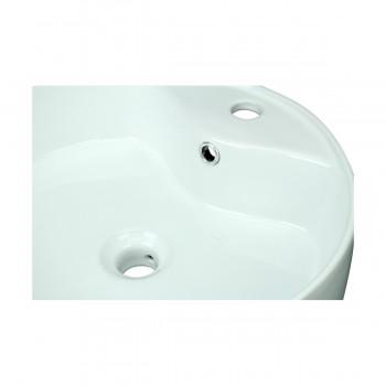 <PRE>Bathroom Vessel Sink White China Prescott Faucet Hole </PRE>zoom10