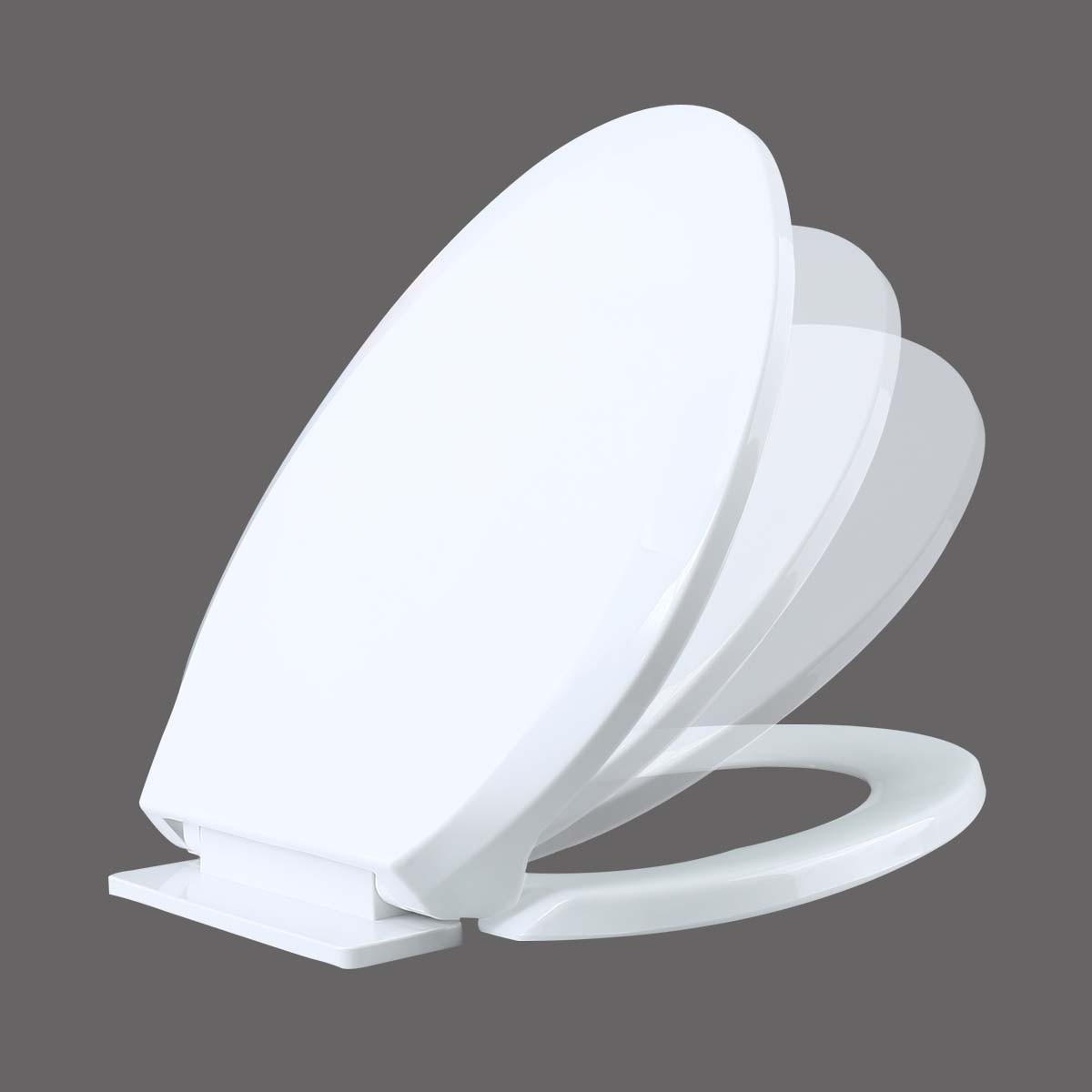 no slam toilet seat hinge.  Slow Close No Slam Plastic Elongated Toilet Seat White