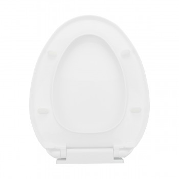 <PRE>Slow Close No Slam Plastic Elongated Toilet Seat White</PRE>zoom6