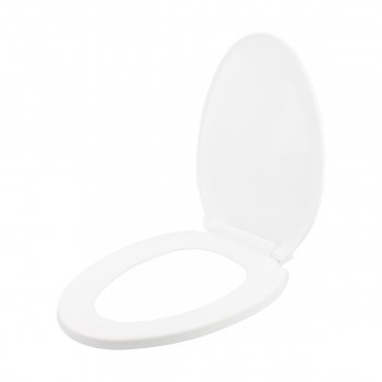 <PRE>Slow Close No Slam Plastic Elongated Toilet Seat White</PRE>zoom8