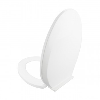 <PRE>Slow Close No Slam Plastic Elongated Toilet Seat White</PRE>zoom9