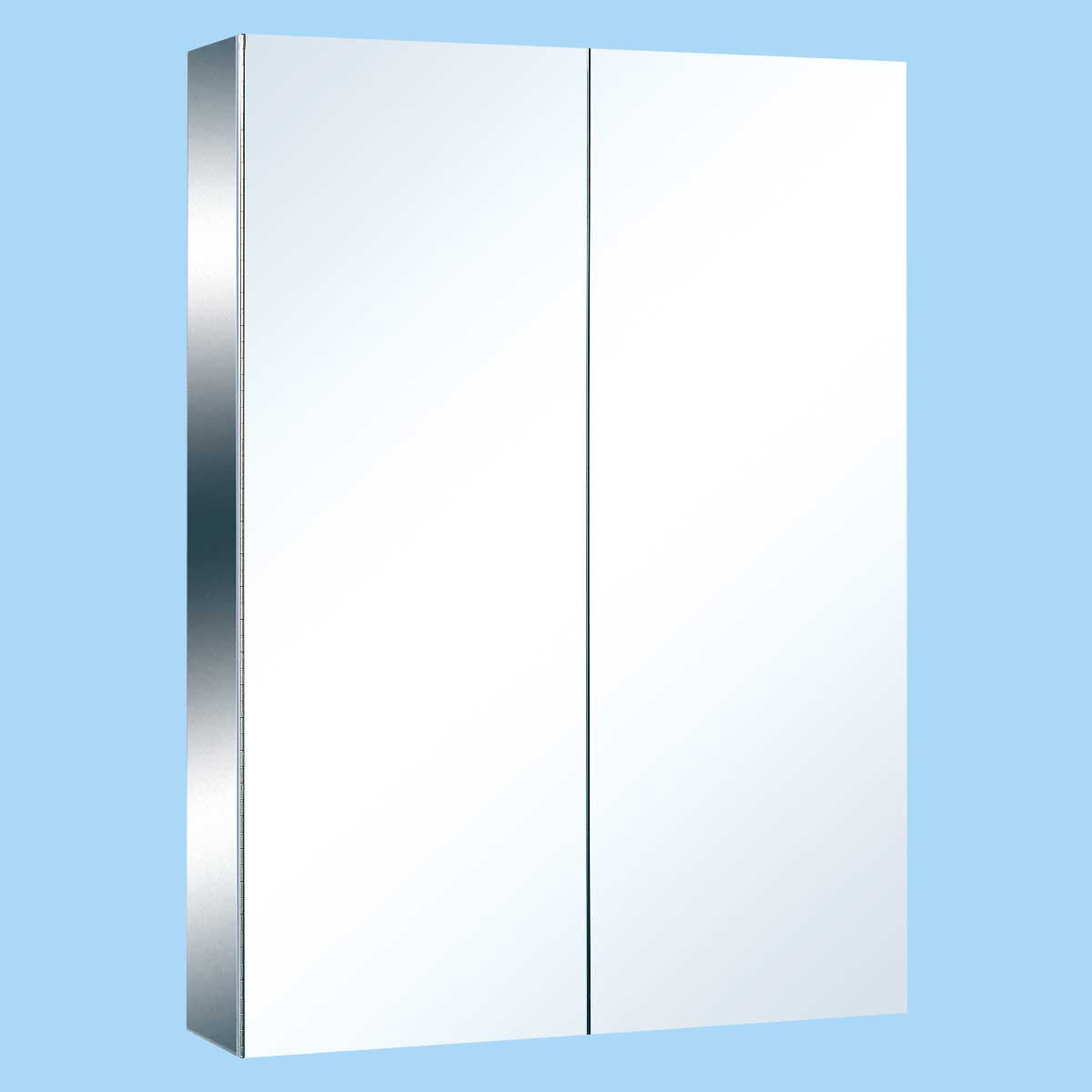 Stainless Steel Medicine Cabinet Double Mirror Door Large