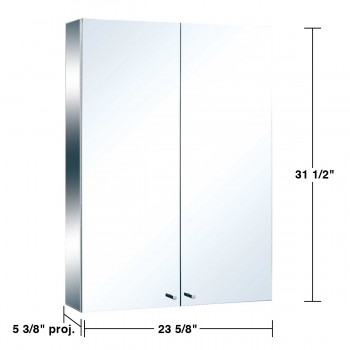 spec-<PRE>Stainless Steel Medicine Cabinet Double Mirror Door Large </PRE>