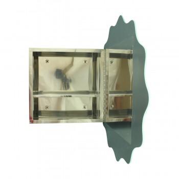<PRE>Stainless Steel Medicine Cabinet Round Floral Mirror Door </PRE>