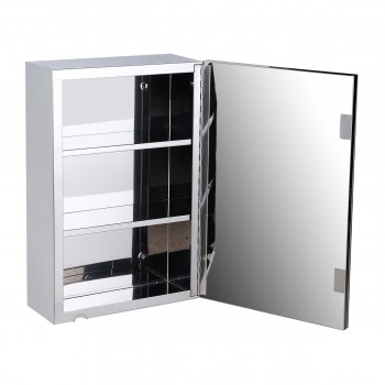 22 Stainless Steel Medicine Cabinet Mirror Wall Mount Medicine Cabinet Stainless Steel Mirrored Wall Mount Medicine Cabinet Organizer Shelves Storage Bathroom