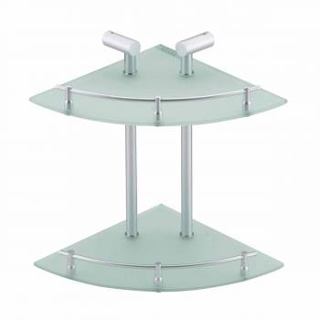 Corner Shelves Clear GlassStainless Two Tier Glass Corner Shelf Shelf Shelves Corner Shelf