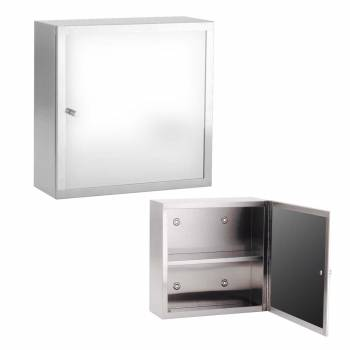 Medicine Cabinet Small Manhattan Series Brushed Stainless Steel