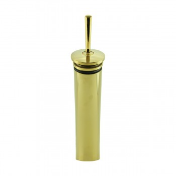 Tall Waterfall Faucet Heavy Cast Brass Gold PVD Round 13559grid