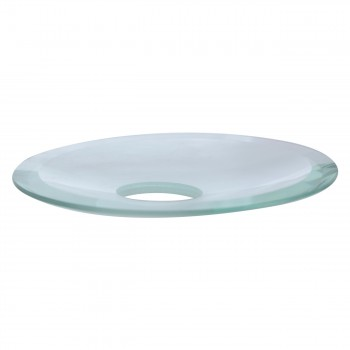 <PRE>Replacement Waterfall Faucet Clear Glass Disc Plate </PRE>zoom3