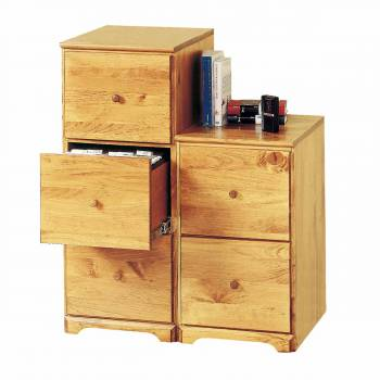 File Cabinet County Pine 3 Drawer 38