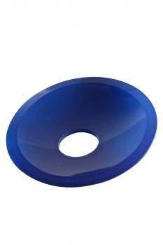 Dark Blue Glass Disc Plate Replacement for Waterfall Faucet 13562grid