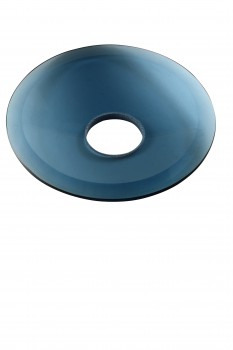 <PRE>Replacement Waterfall Faucet Blue Glass Disc Plate </PRE>zoom1