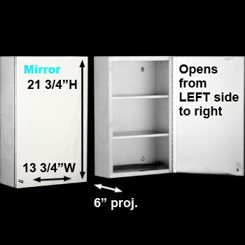 spec-<PRE>Medicine Cabinet Brushed Stainless 21 3/4 Surface Mount  </PRE>