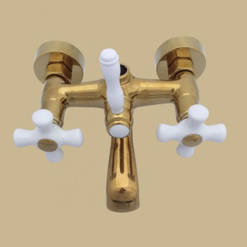 Cross Handle Tub Faucet PVD Brass Faucet Assembly Only - Tub faucets, Tub faucet info & unique accessories, quantity discounts on all Tub faucets, brass Tub faucets, chrome Tub faucets, hand-held showers, riser showers, Bath Grab Bars, bathroom fixtures,tub faucets & free shipping by Renovator's Supply.