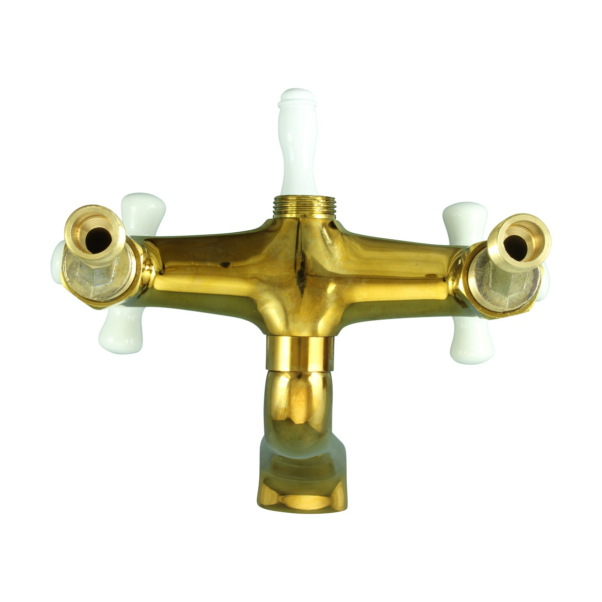 Tub Faucet Part PVD Brass Cross Handle Porcelain Bathroom Faucet Part Faucet Part Faucet Parts