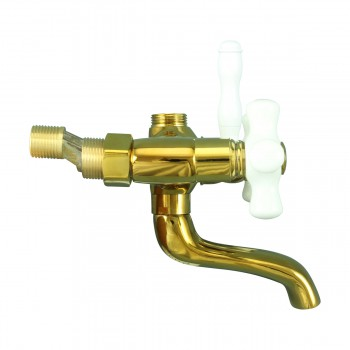<PRE>Tub Faucet Part PVD Brass Cross Handle Porcelain </PRE>zoom4