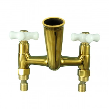 <PRE>Tub Faucet Part PVD Brass Cross Handle Porcelain </PRE>zoom5