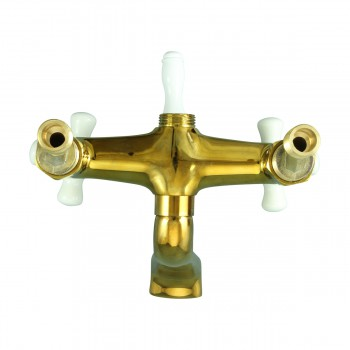 <PRE>Tub Faucet Part PVD Brass Cross Handle Porcelain </PRE>zoom6