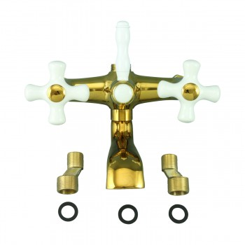<PRE>Tub Faucet Part PVD Brass Cross Handle Porcelain </PRE>zoom7