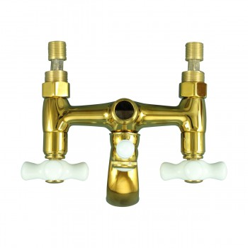 <PRE>Tub Faucet Part PVD Brass Cross Handle Porcelain </PRE>zoom9