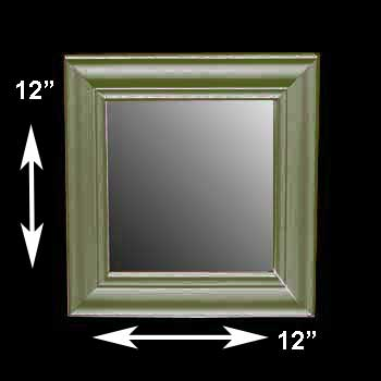 spec-<PRE>Mirror Bayberry Green Pine 12&quot; X 12&quot; Mirror Only </PRE>