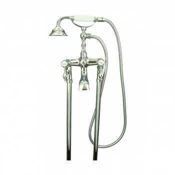 <PRE>Freestanding Tub Faucet &amp; Telephone Handheld Shower Chrome </PRE>zoom3