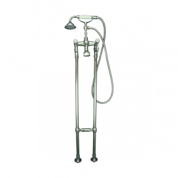 Freestanding Tub Faucet & Telephone Handheld Shower Chrome 13648list