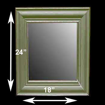 spec-<PRE>Mirror Bayberry Green Pine 24&quot;H X 18&quot; W Mirror Only </PRE>
