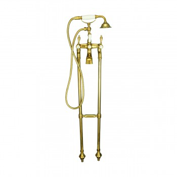 <PRE>Freestanding Tub Faucet Teardrop Telephone Shower Gold PVD </PRE>zoom3