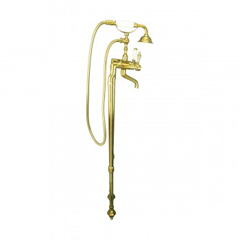<PRE>Freestanding Tub Faucet Teardrop Telephone Shower Gold PVD </PRE>zoom7