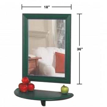 "spec-<PRE>Mirror Bayberry Green Pine 18""H X 36""W </PRE>"