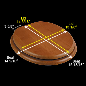 spec-<PRE>Round Toilet Seat Hardwood Golden Oak Brass Hinge </PRE>