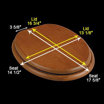 spec-<PRE>Golden Oak Hardwood Elongated Toilet Seat Chrome Hinge</PRE>