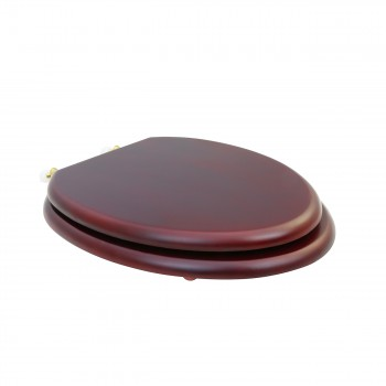 <PRE>Toilet Seat Elongated Solid Wood Cherry Fin Brass Hinge  Sup</PRE>zoom3