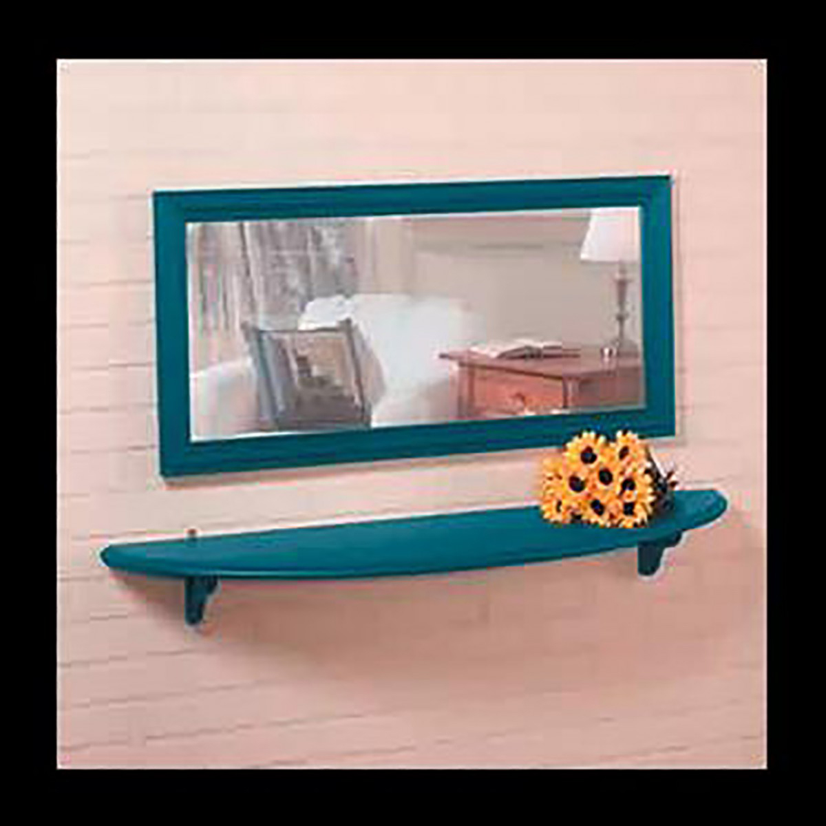 Wall Mounted Bathroom Shelves Country Blue Pine 43 34 Inches Wall Mounted Bathroom Shelves Shelf Bathroom Shelves