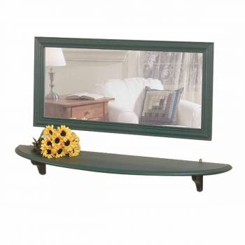 Bathroom Shelves Bayberry Green Pine 43 3/4