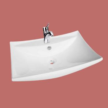 Shanta White Wall-mount Sink ADA Compliant - Vessel Sinks by Renovator's Supply.