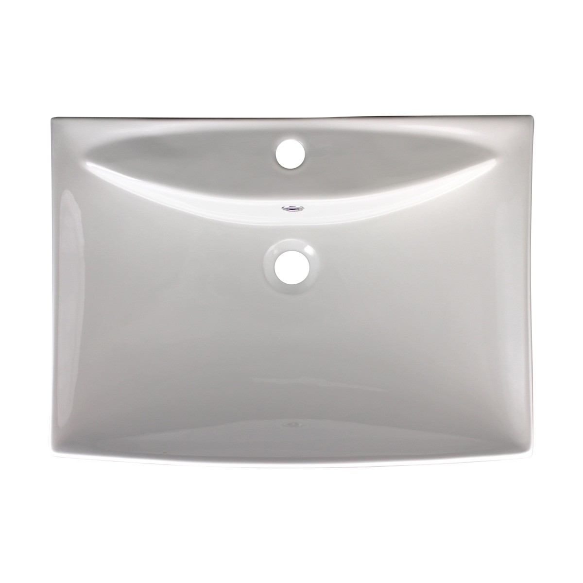 Bathroom Sink White Porcelain Deluxe Square classic traditional vintage antique authentic modern contemporary diy ceramic porcelain basin Above Counter Sink